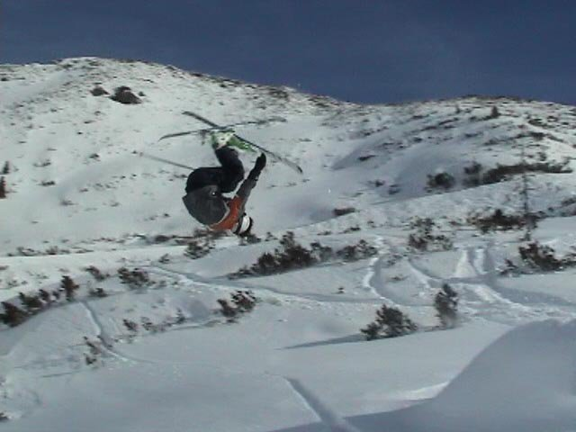Frontflip with left arm in plaster