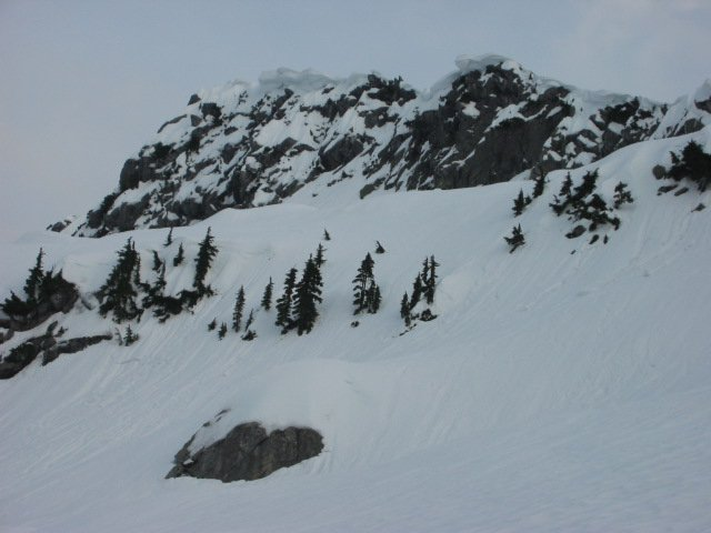 looking at the Top of Mt. Pilchuck in March