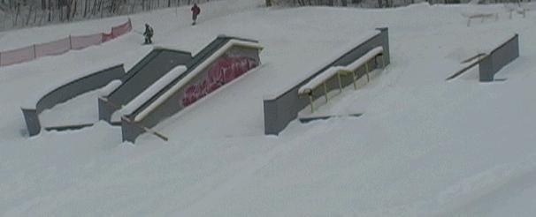 2004 US snowboarding open jib jam setup