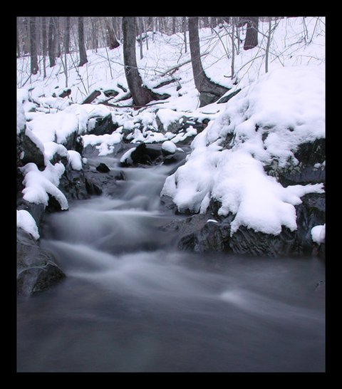 One More 4 second Exposure of a Stream