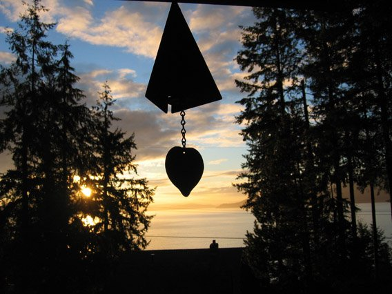BC is so nice ya heard...sunset wiff a lill deck wind chime thing yo/
