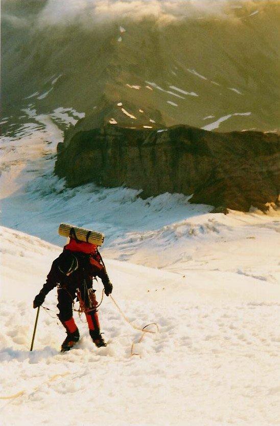 me climbing Mt Rainier