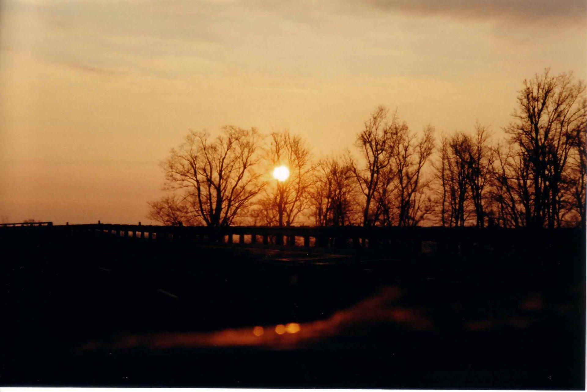 nice Sunset over Guardrailing