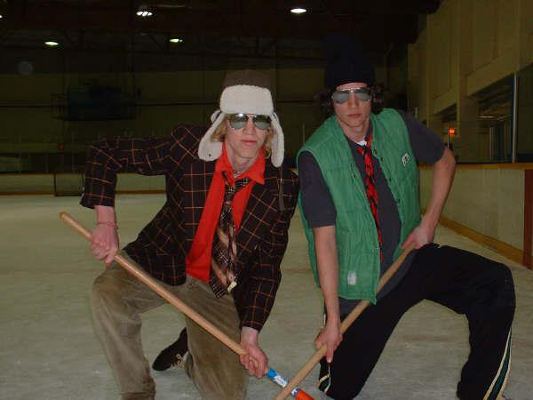 some solid starsky and hutch action at broomball