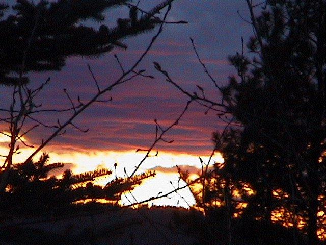pretty sun set....