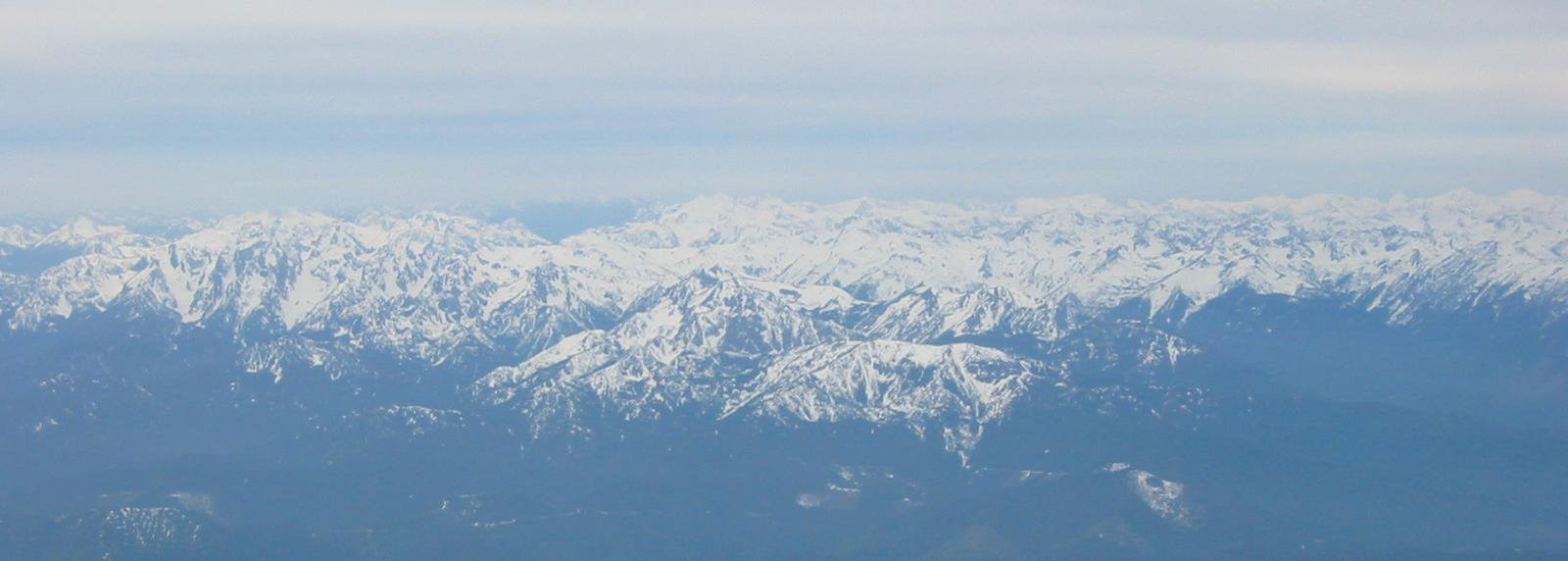 Cascades from an airplane