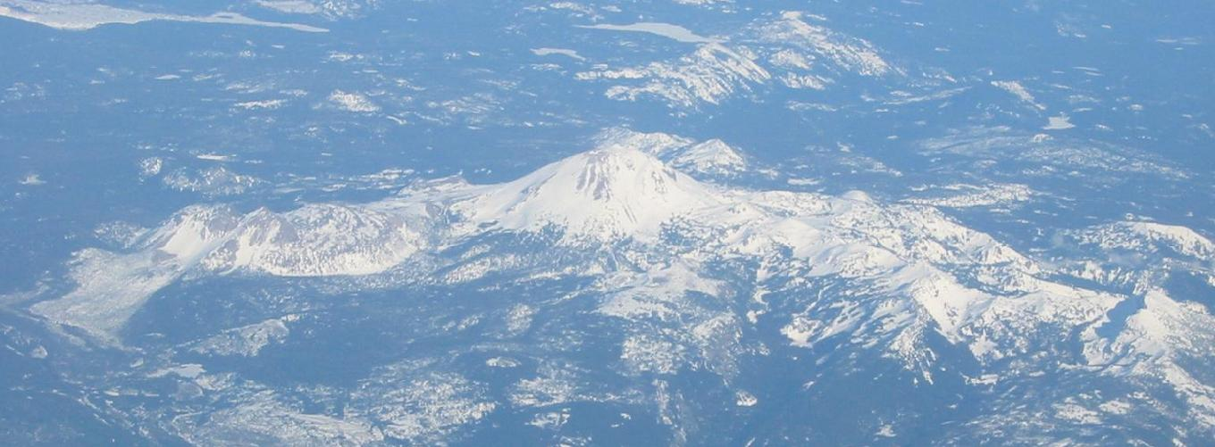 Shasta from the plane