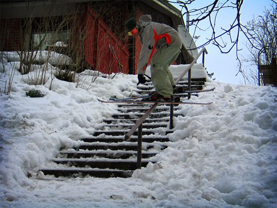 Unnatural lipslide on handrail