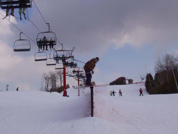 50 ft steezzzzyyy rail slide