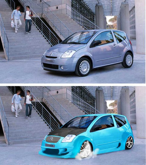 citroen c2 photoshopped all by me