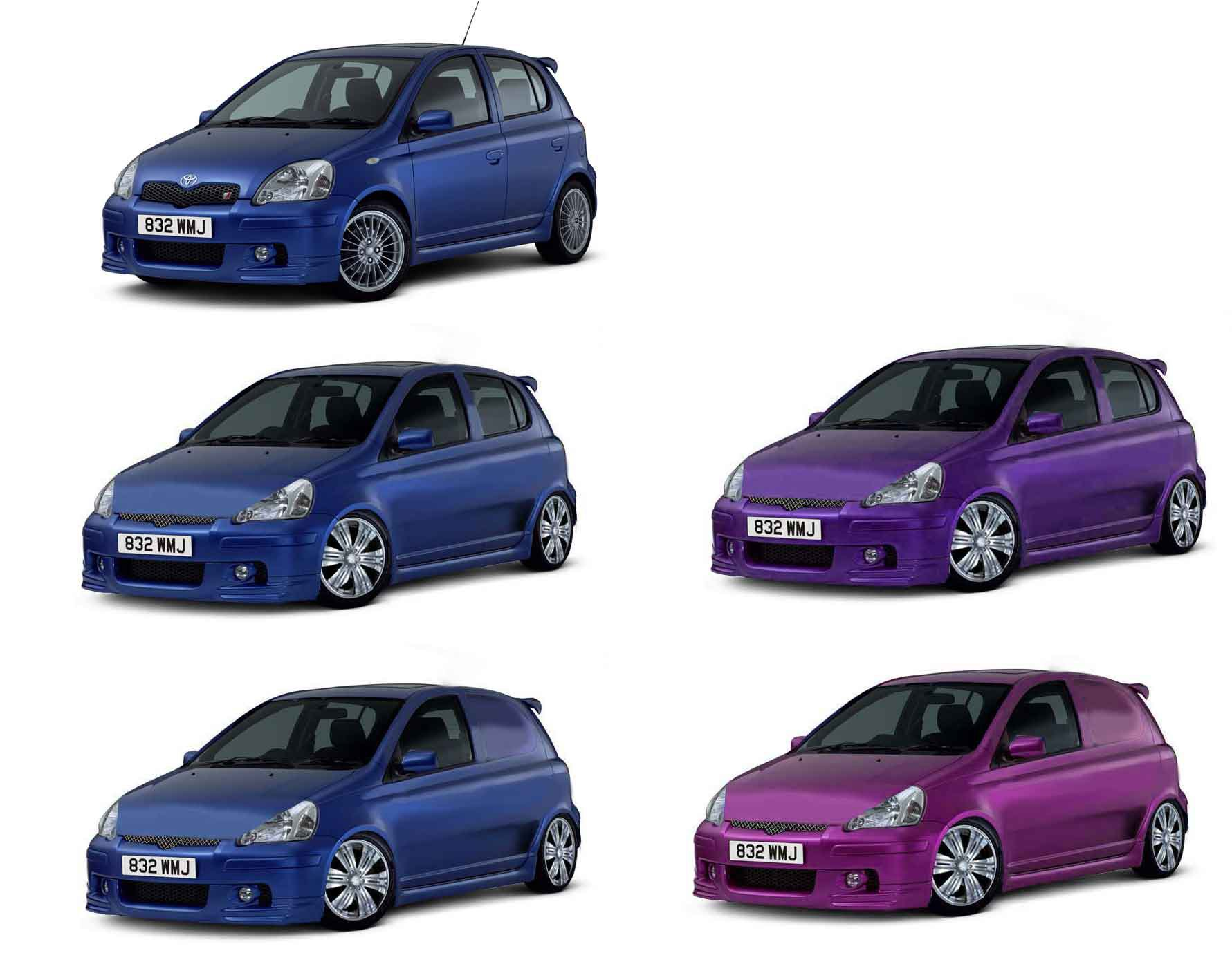 toyota yaris photoshopped by me. van and car conversions