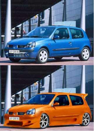another photoshopped masterpiece my moi ; ) !! a clio this time