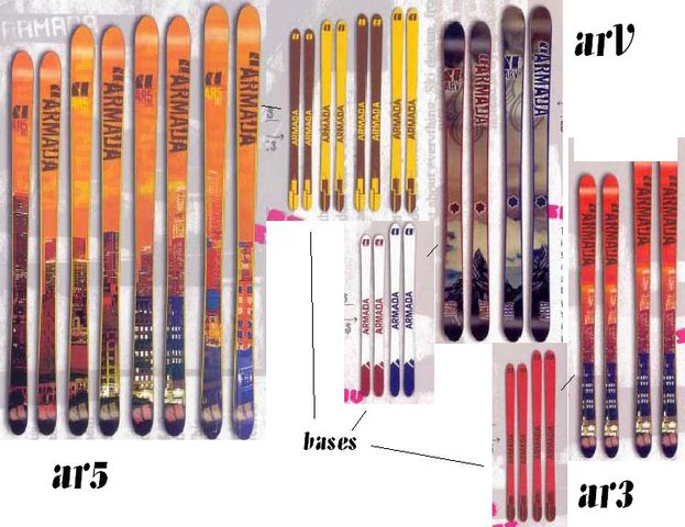 2005 armada skis! SO SICK