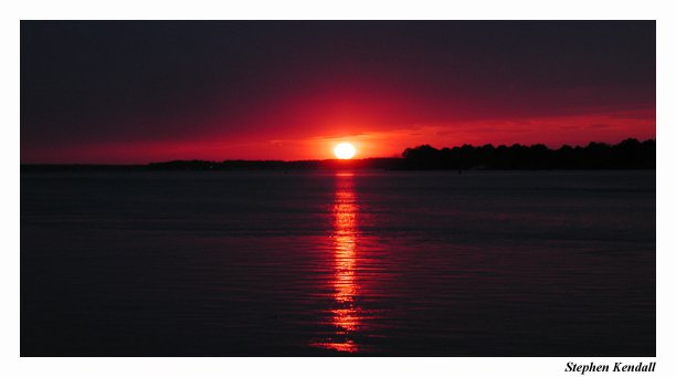 A Few Minutes Later Sunset Over the Indian River in Delaware