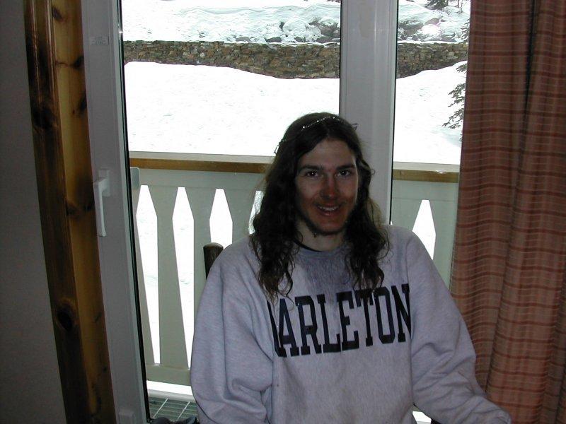 Myself, my goggle tan, 3-11-2003