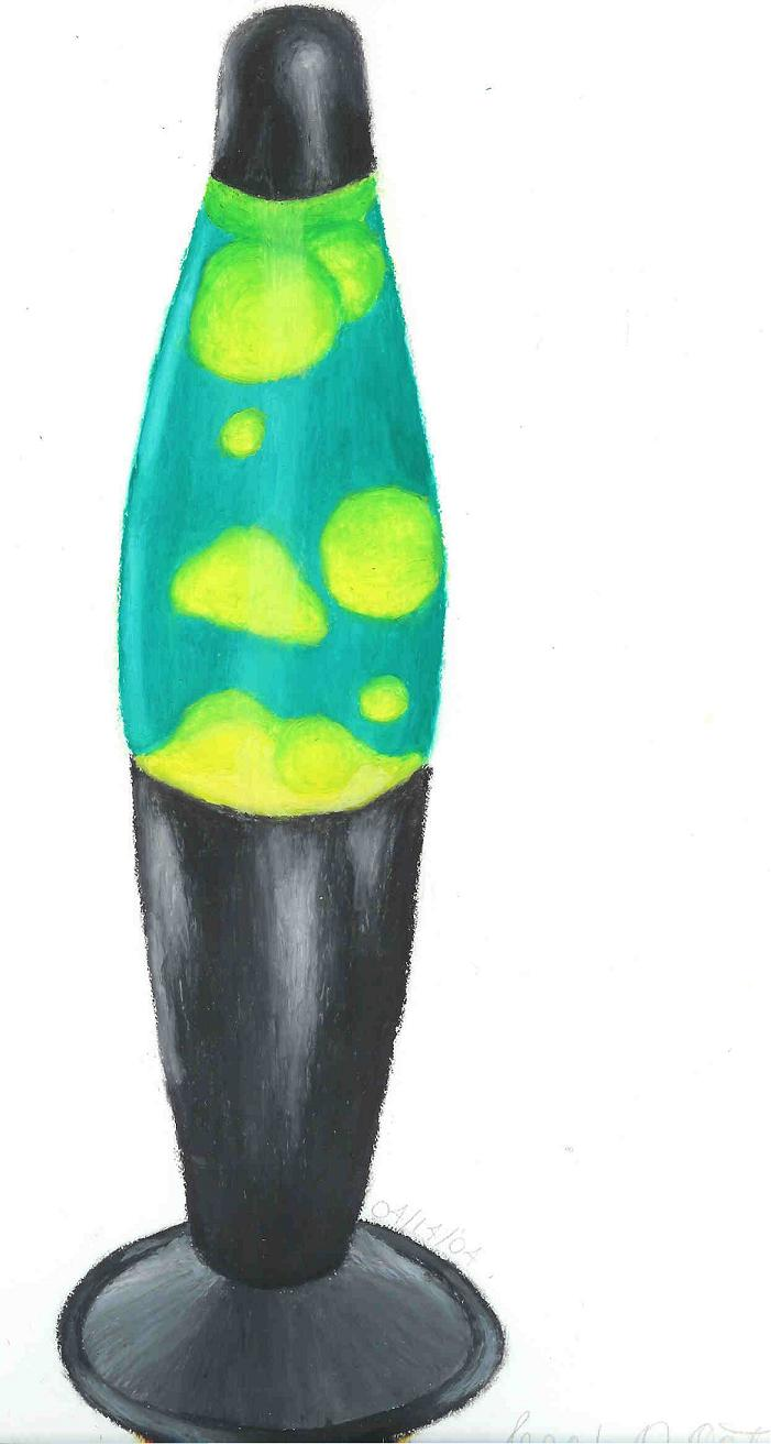 Lava Lamp done with oil pastels