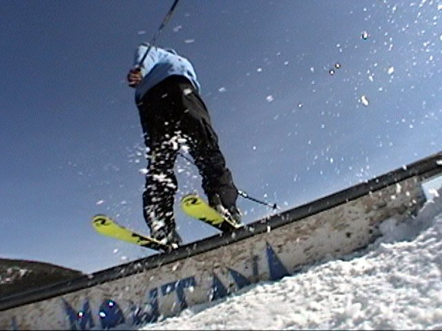 Derek on the small rail