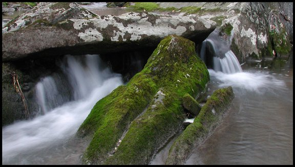 Water Flowing Around a Rock
