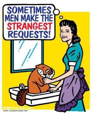 shaving her beaver