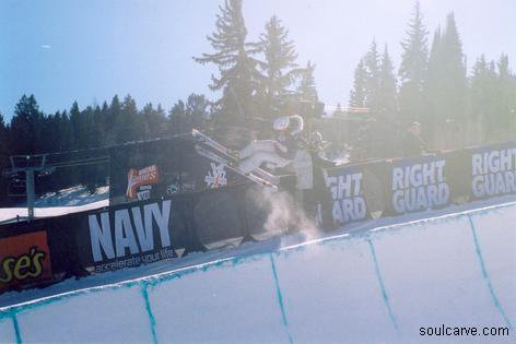 Hannah Epps at the Womens Superpipe Jam Winter X games 2004