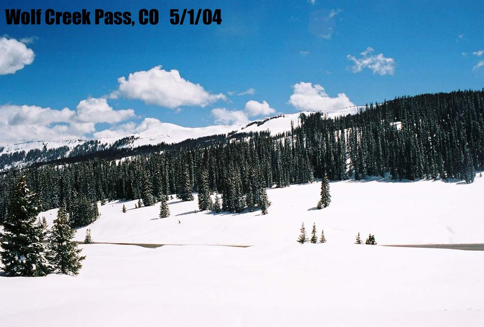Wolf Creek Pass on May Ist