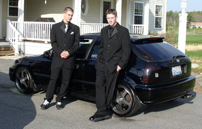 Mike (bionicmikeyt) and I b4 prom BLACKNESS