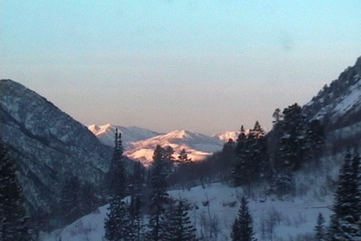 Sunrise at the Cliff Lodge