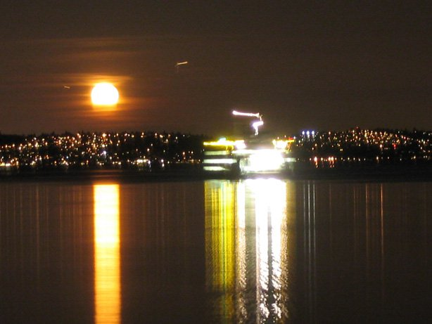 WA ferry @ night