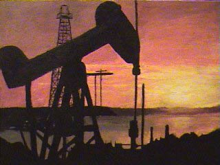 Acryclic Oil Well, low quality picture of a painting I did