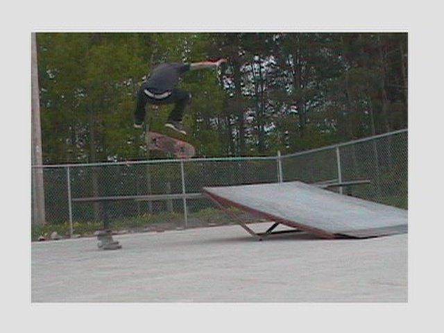 Kick flip off a kicker