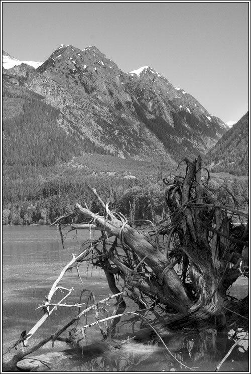 Mountain over Kalum Lake