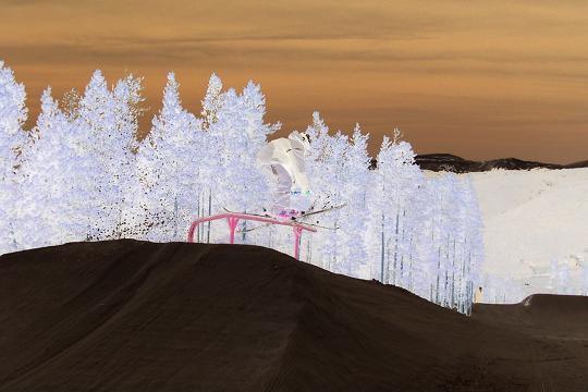 inverted colors of railslide