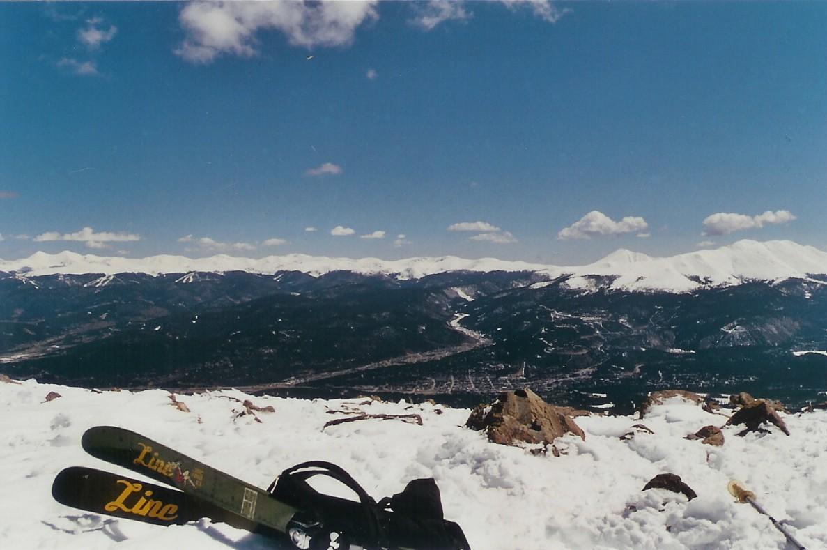 after hiking up peak 8