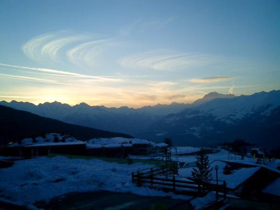 Pila sunset, looking back towards Chamonix