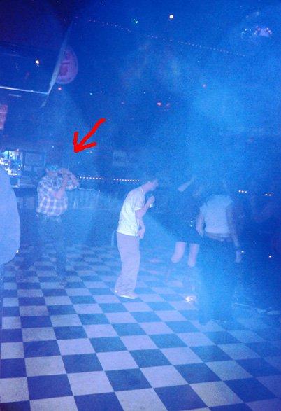 Tribal dance in club