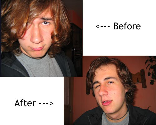 my haircut (Before and after) you be the judge