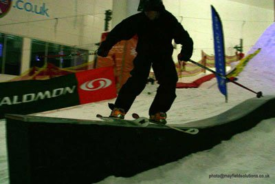 Whaletail Rail, indoor slope