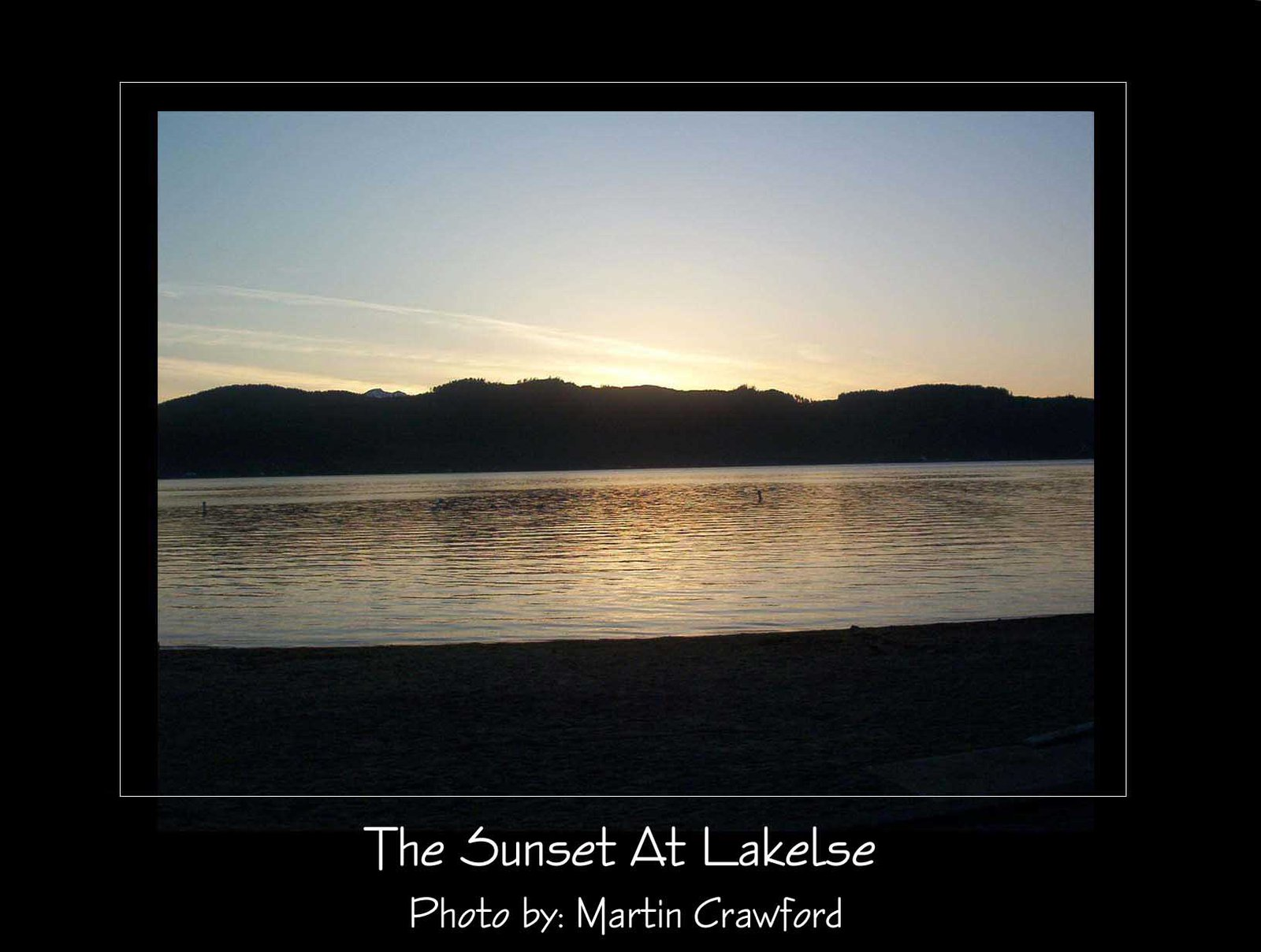 Sunset At Lakelse 1