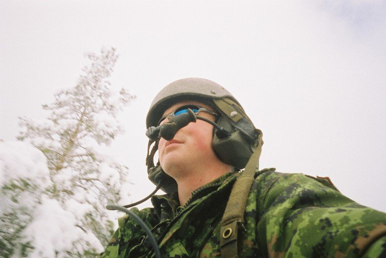On top of bosnia, crew commanding an armoured vehicle
