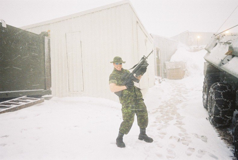 On top of Bosnia with guns and a snowstorm...