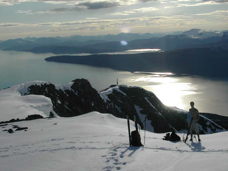 Big m. Summer skiing. U gotta luv it 2