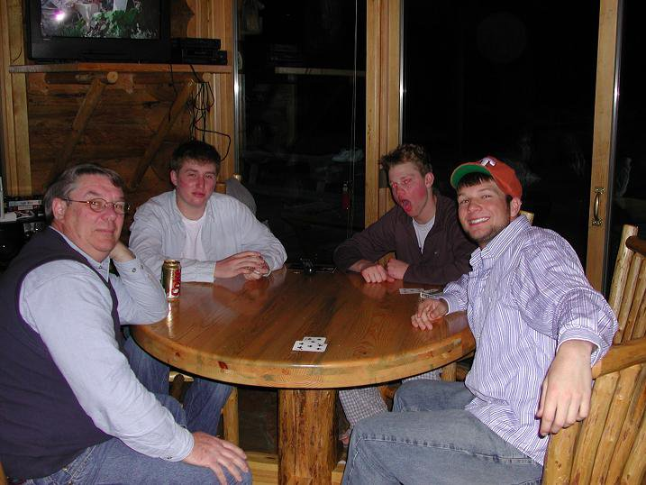 THE CREW... out in Bigsky, Montana.. playin cards.