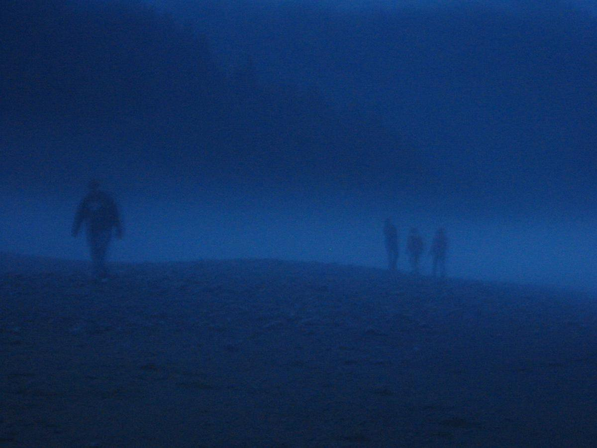 The fog was mad thick at night. You could hardly see more than ten feet around you.