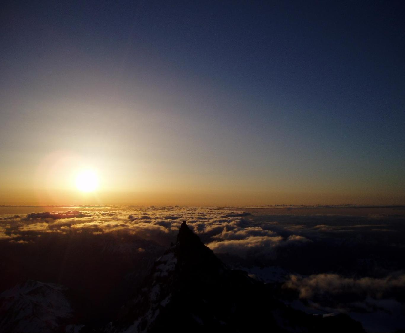 Taken at sunrise from 11,500 feet on the Ingraham Glacier