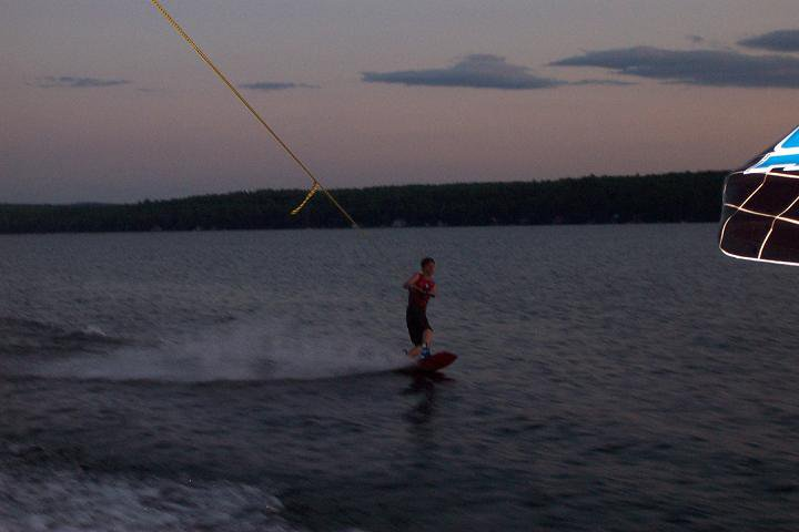 wakeboarding night session