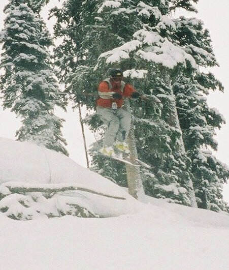 Playin in the pow in the trees!