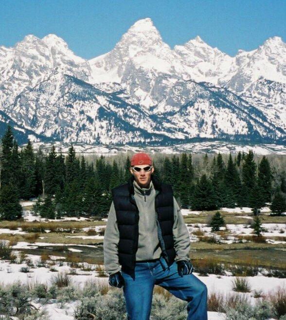 Hiking the base of the Grand Teton..spectacular scenery....so many lines...