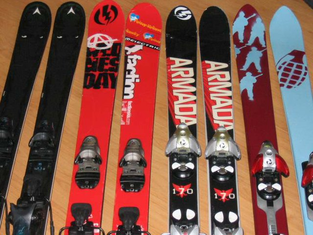 the skis currently in my house
