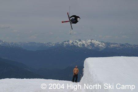 backwards niner mute ski grab