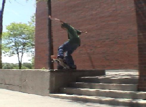 5-0 on 4 stair ledge
